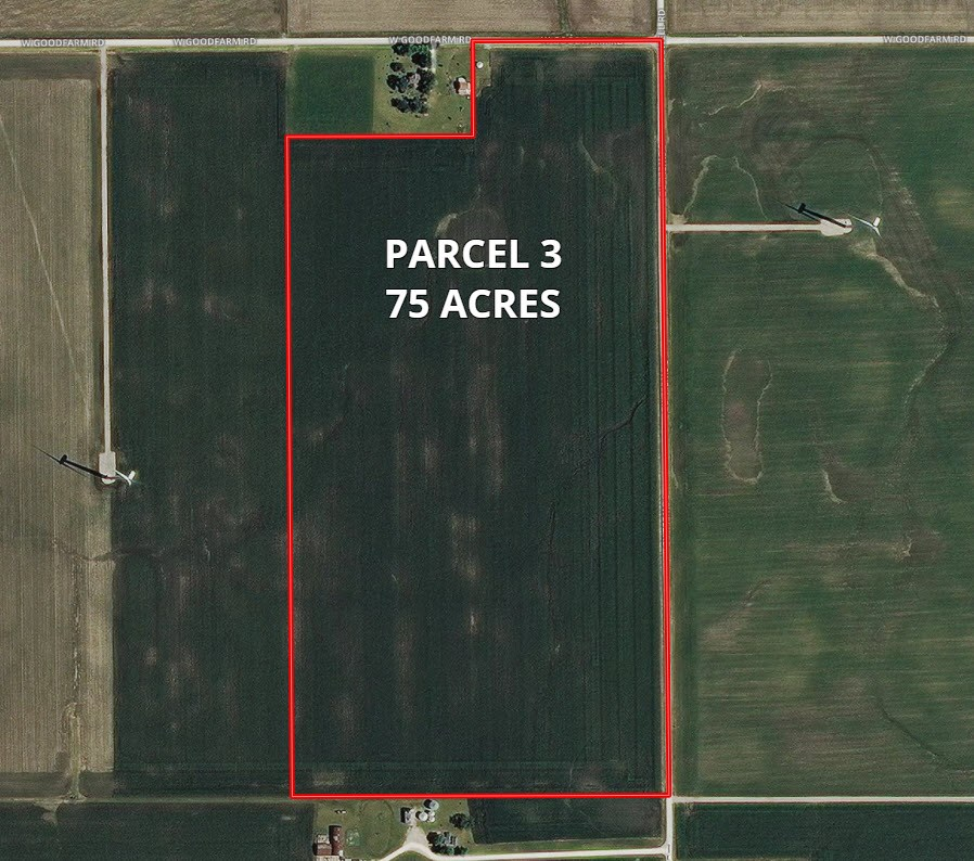 Aerial Map of Parcel 3  75 Acres Highland Township