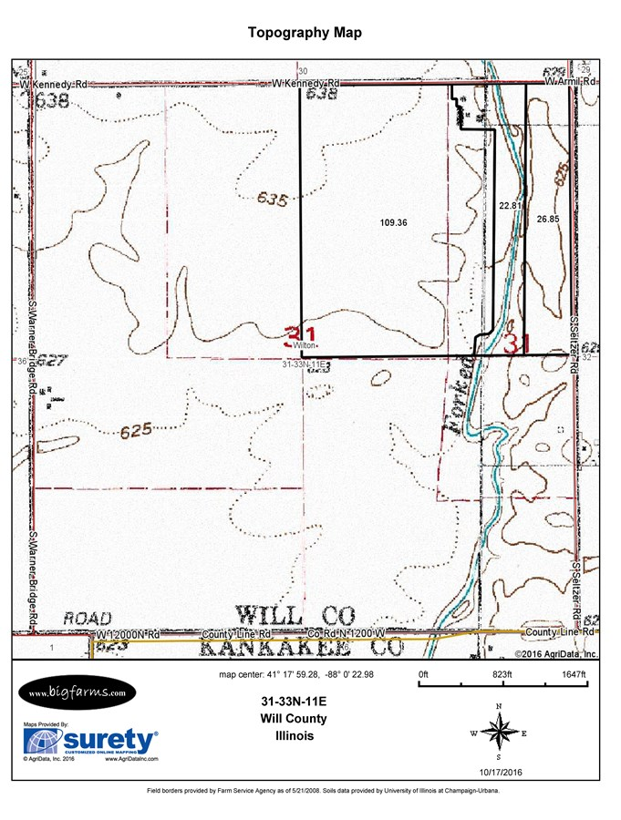 Wilton Township 160 Topographical Map