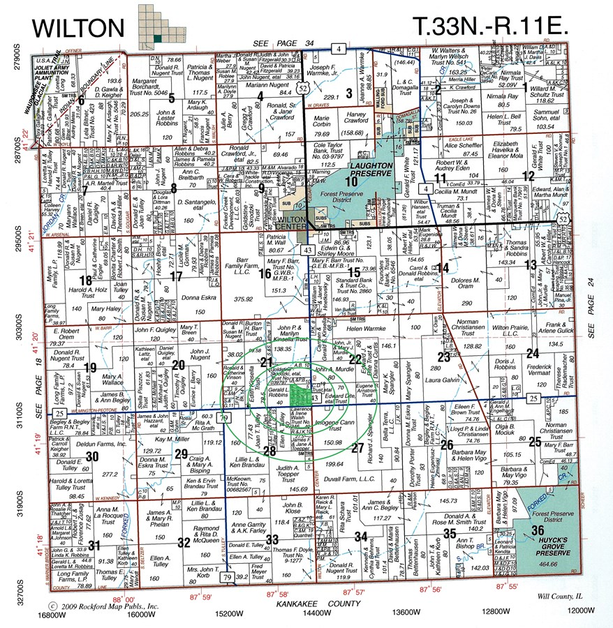 Plat Map of 35 Acres Wilton Twp., Will County