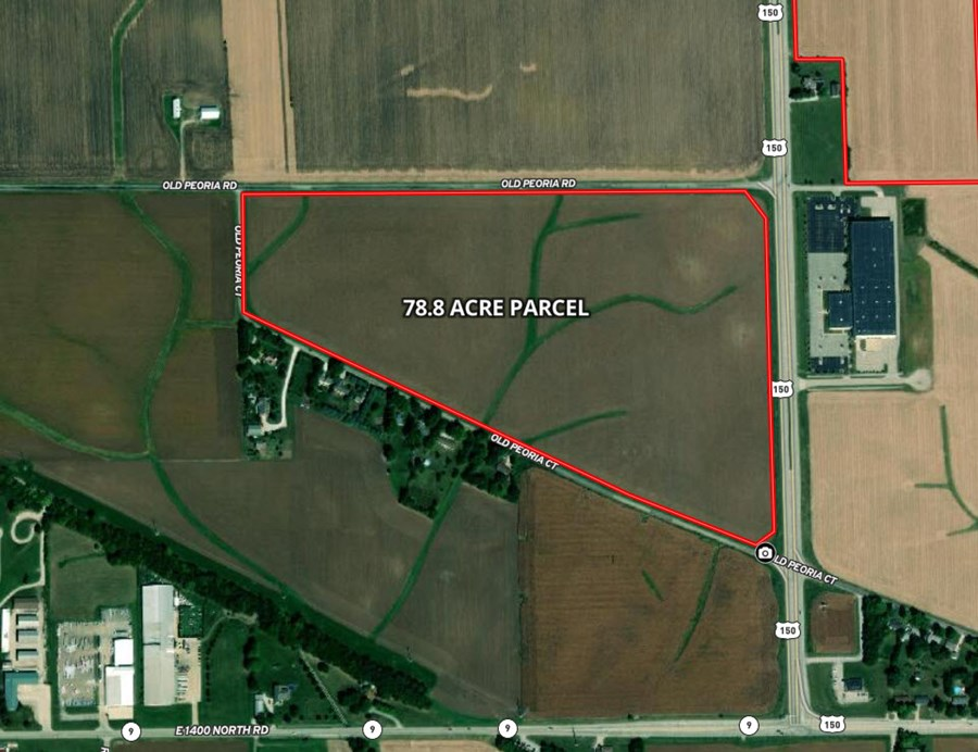 Aerial Map of 78 Acres