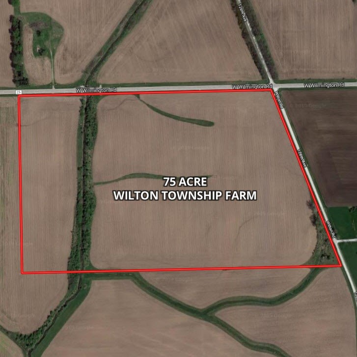Aerial Map of 75 Acres in Wilton Township, Will County IL