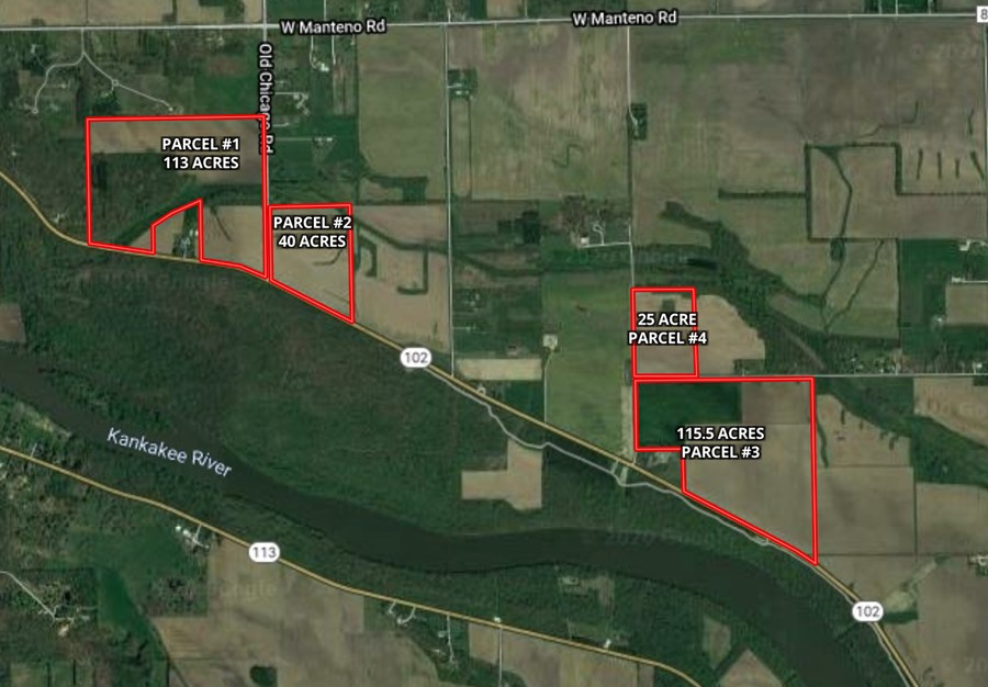 Aerial Map Butterfield Farm Custer Township, Will County