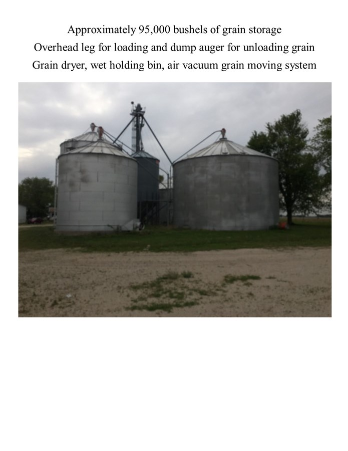 Grain Storage on the Lisbon 10 acres Farmstead