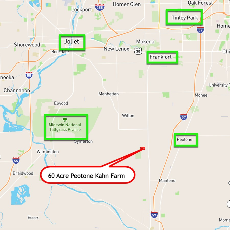 Roadway Map 60 Acre Peotone Kahn Farm Peotone Township, Will Count6