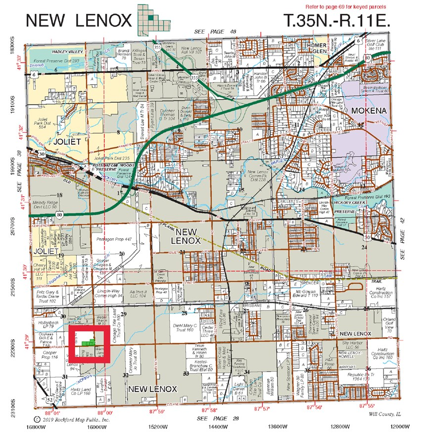 Plat Map Location of New Lenox Commercial Site