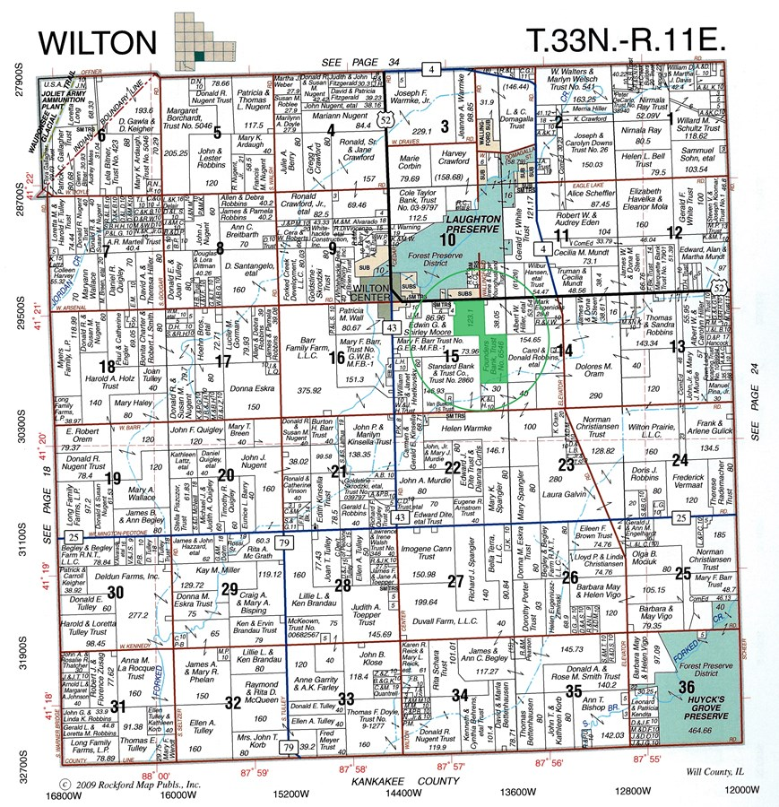 Plat Map of Wilton Township, Section 15