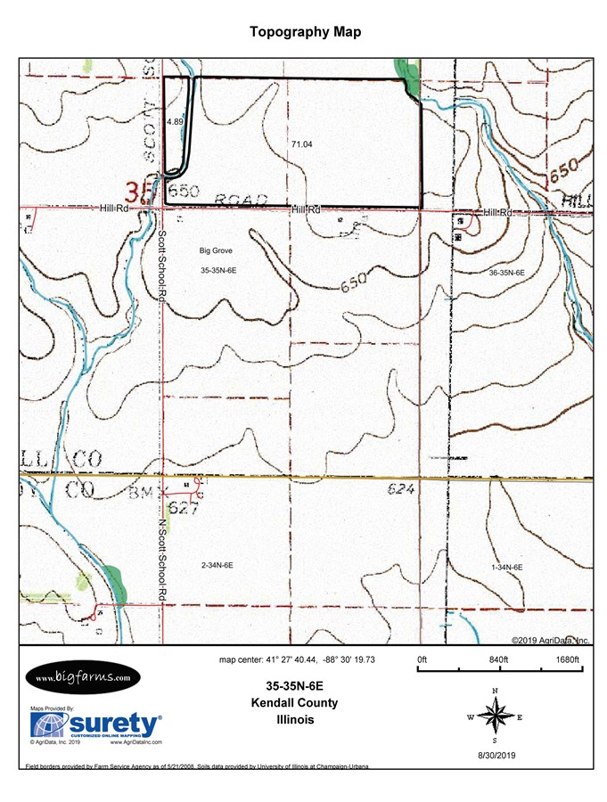 Parcel D Topographical Map