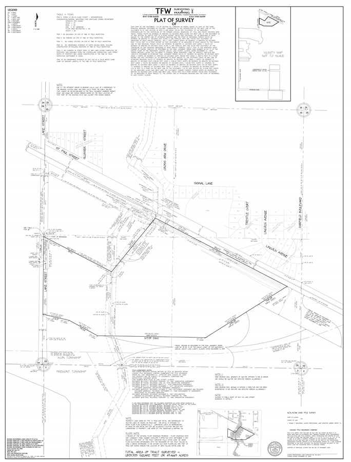 Survey 43.5 Acre Grayslake Transportation Parcel