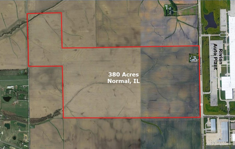 Aerial Map of the 380 Acres