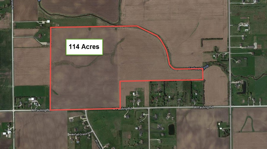 Aerial Map 1 of Green Garden 114 Acres
