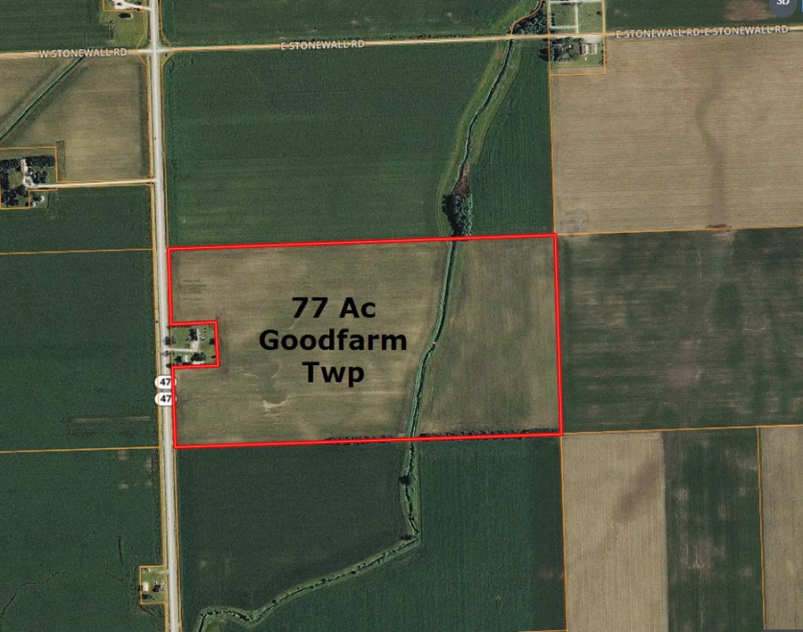 Aerial Map 2 of 77 Ac Goodfarm Township, Grundy County