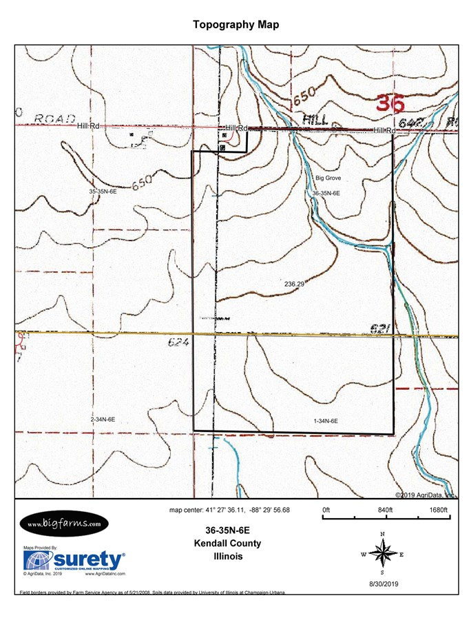 Parcel B Topographical Map