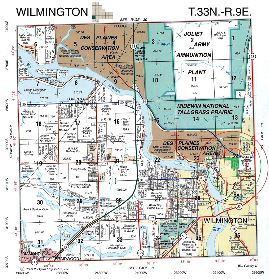 Plat Map of 47 Acres Wilmington Township, Will County