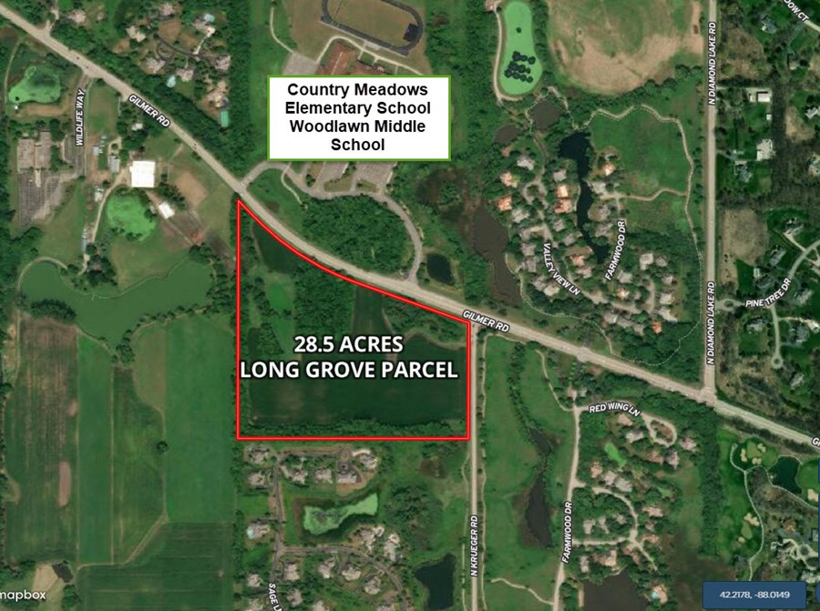 Aerial Map of Long Grove 28 Acre Development Site
