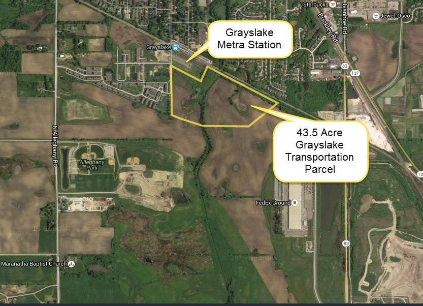 General outline of Grayslake Transportation Parcel