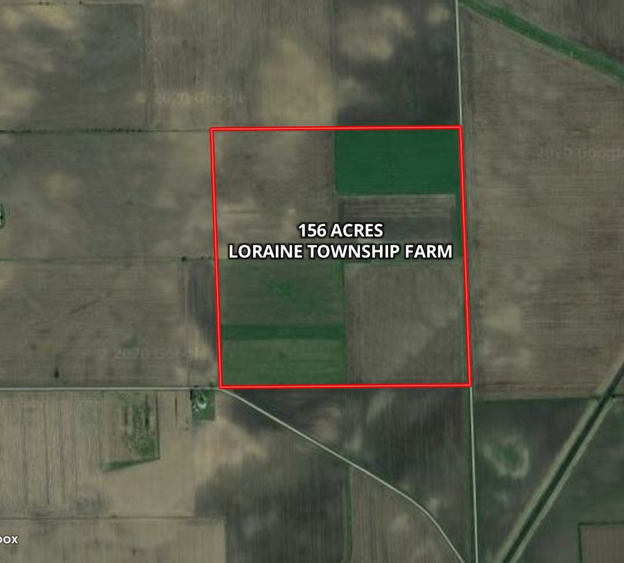 Aerial Map 156 Acre Loraine Township Farm, Loraine Township,  Henry County, IL