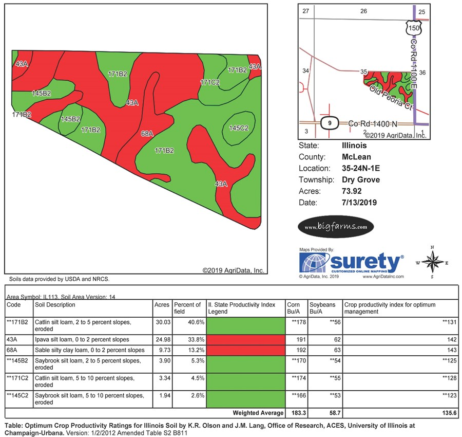 Soil Map of 78 Acres
