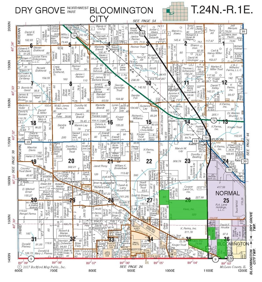 Plat Map of 186 Acres in McLean County