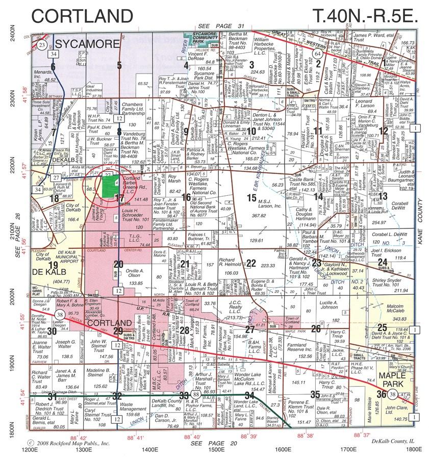 Property For Sale Cortland IL DeKalb County Cortland Township on