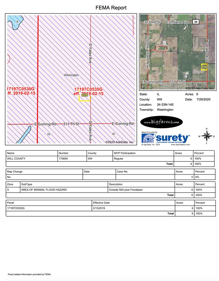 6.1 Acre Beecher Building Site Will County, IL FEMA Report