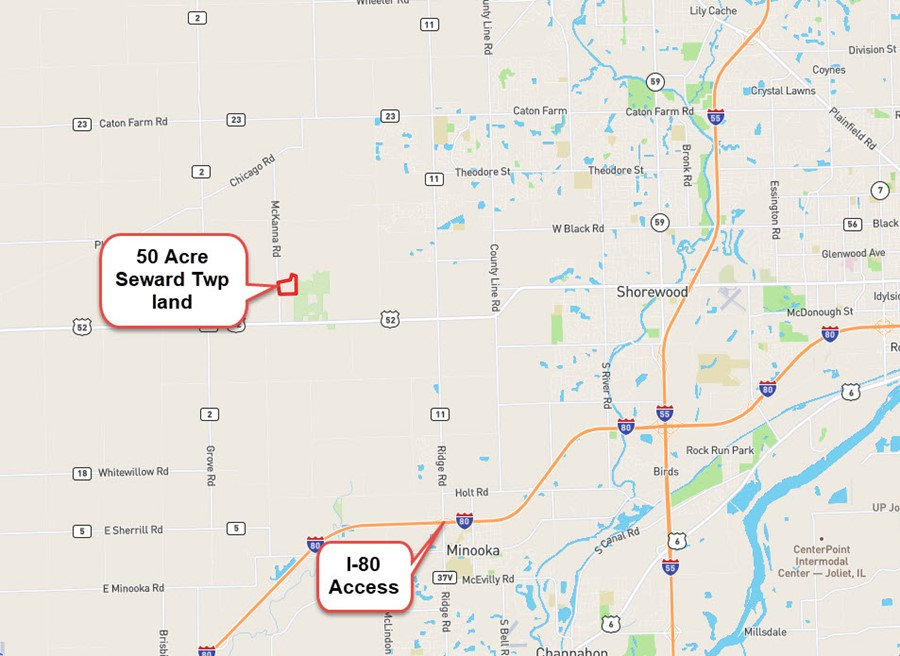 50 Acre Location in Seward Township, Kendall County Illinois