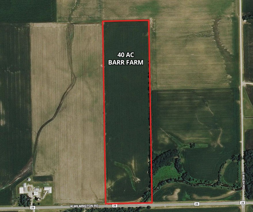 40 Acre Aerial Map Wilton Township Farm