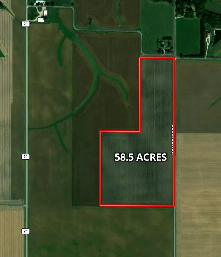 Aerial Map 58 Acre McCoy Farm, Lexington Township, McLean County
