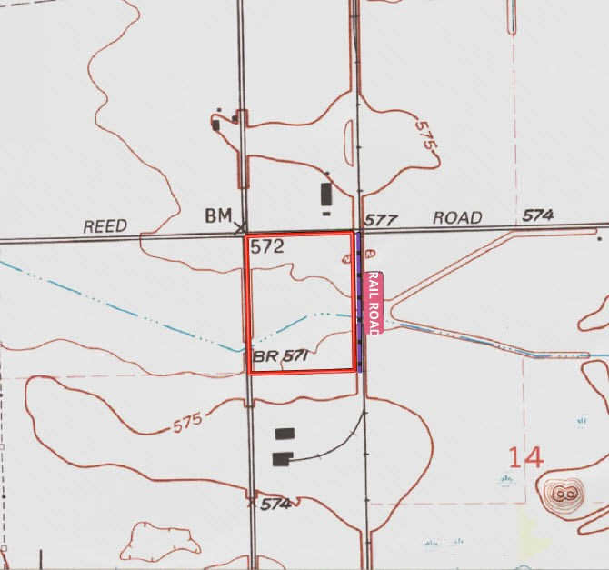 Topographical Map of the Coal City Industrial Site, Grundy County
