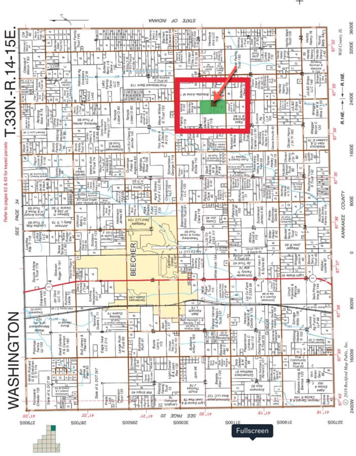 6.1 Acre Beecher Building Site Will County, IL Plat Map
