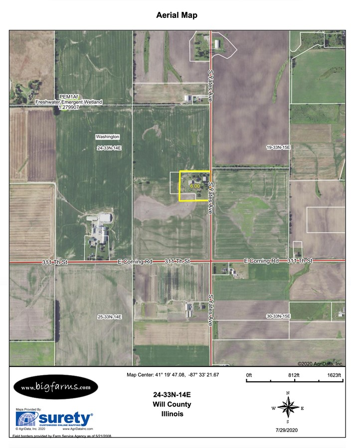 FSA Map 6.1 Acre Beecher Building Site Will County, IL