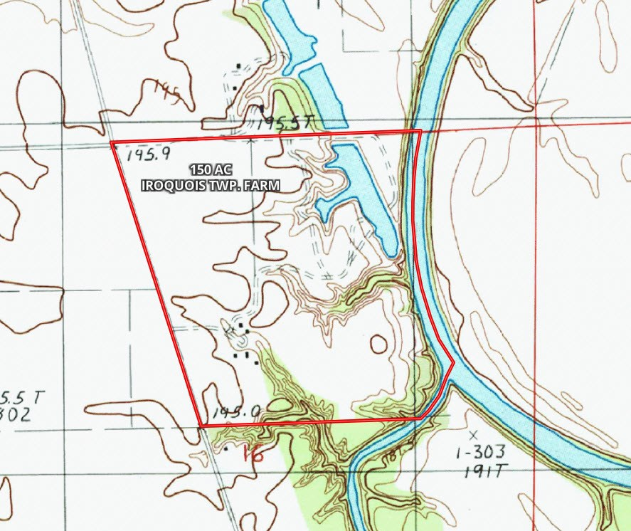 150 Acre Topographical Map