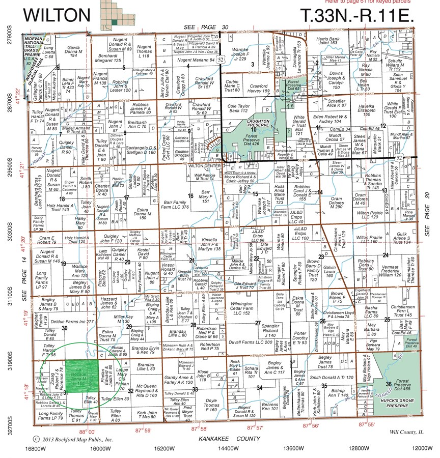 Plat Map of 160 Acre Wilton Township Farm
