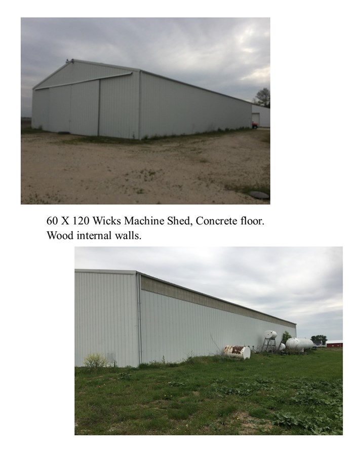 Machine Shed Photos on the 10 acre Lisbon farmstead in Big Grove Township