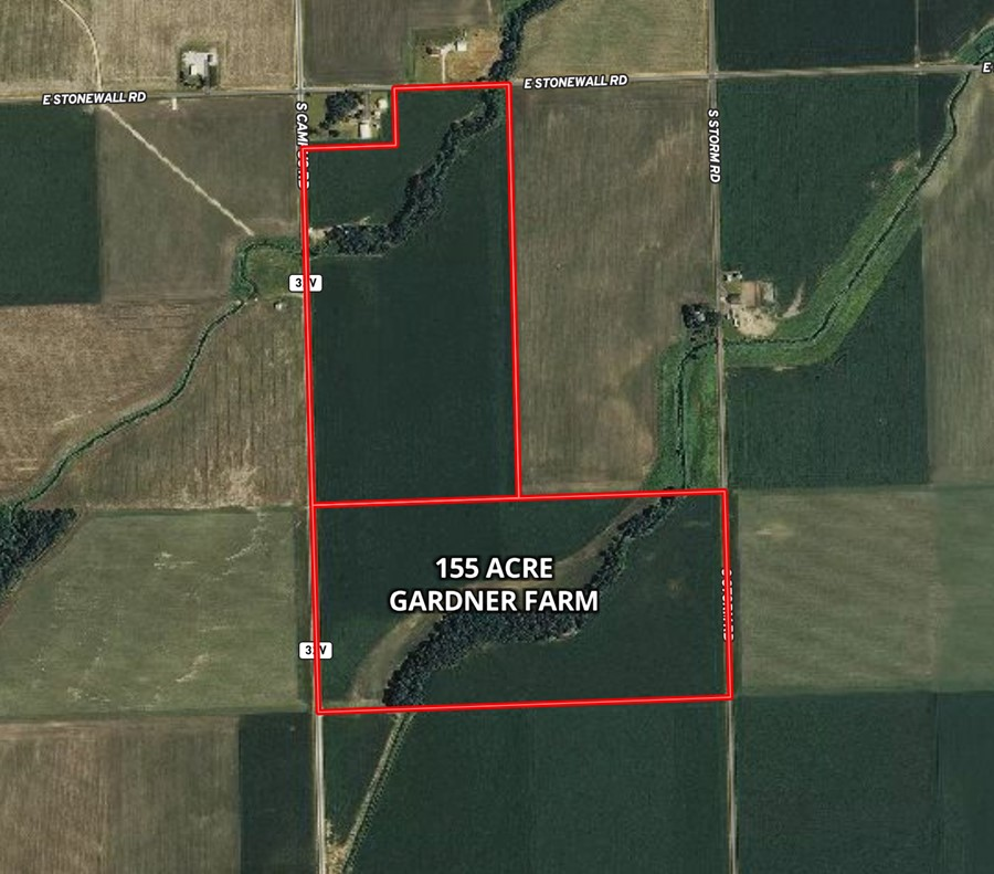 Aerial Map 155 Acre Gardner Farm Garfield Township, Grundy County, IL