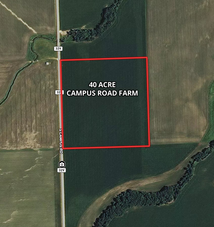 Aerial Map 40 Acre Campus Road Farm, Grundy County, IL