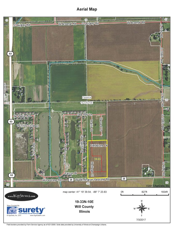 FSA Map of Florence Township 20 Acre Development Site