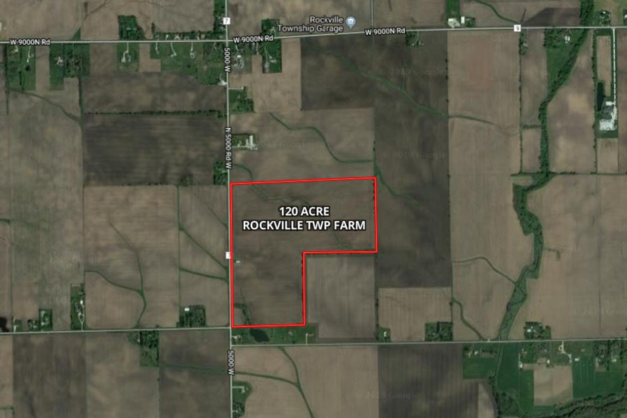 Aerial Map of 120 acres in Rockville Township, Kankakee County, IL