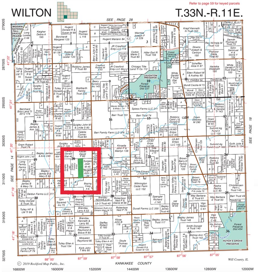 Plat Map of Wilton Township Farm