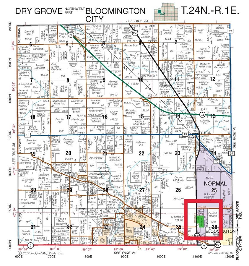 Plat Map of 30 Acres in McLean County
