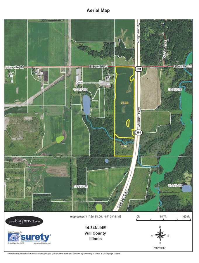 FSA Map of CreteTownship 35 Acre Development Site
