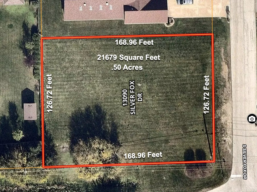 13090 Silver Fox Drive Lot Dimensions Fox Hill Estates Lemont Township, Cook County