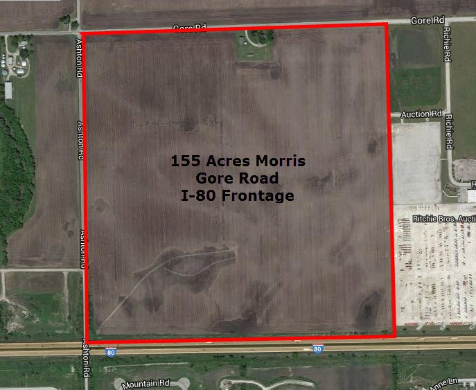 Aerial 3 Gore Road 155 Acres, Saratoga Township Grundy County