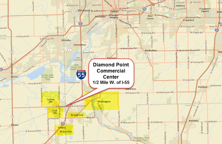 Location Map of Diamond Pt Commercial Center