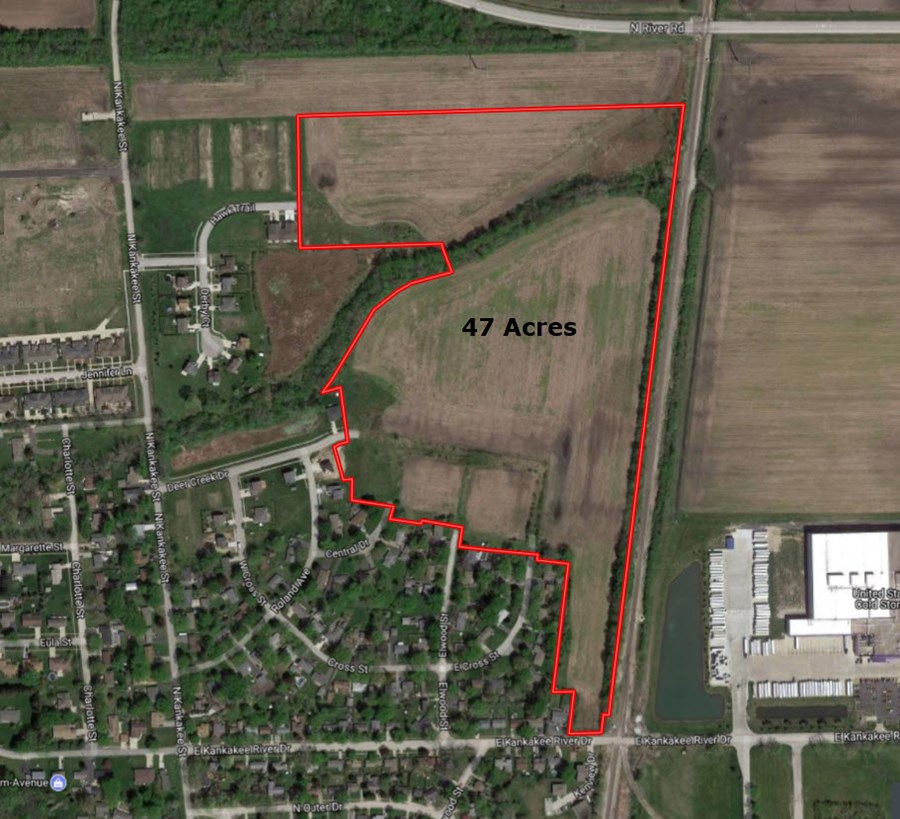 Aerial Map 2 of the 47 Acre Wilmington Development Land