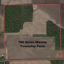 160 Acres Wesley Township Farm